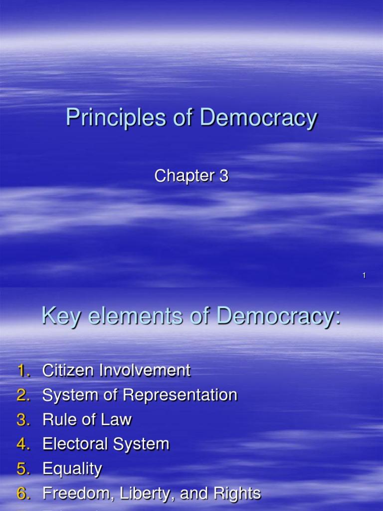 key elements of democracy