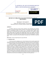 Review on Vibration Analysis With Digital Image Processing
