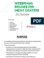 Professional Guidelines for Assessment Centers