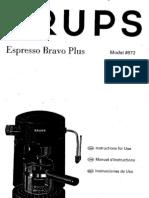KrupsEspresso872 Manual
