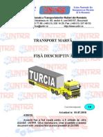 Fisa Descriptiva Transport Marfa Turcia