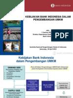 Kebijakan Bank Indonesia Dalam Pengembangan UMKM