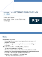 A Study of Corporate Insolvency Law in India- Kristin Van Zwieten