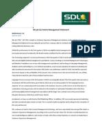 SDL plc Q1 Interim Management Statement