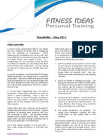 Fitness Ideas Newsletter - 1 May 2013