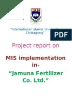 Project Report on MIS Implementation in an Comapany (Jamuna Fertilizer Co. Ltd.) - Md. Diaun Ul Islam.
