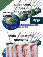 Dfrshenzhen.com, Dalian Fortune Research Shenzhen China - Asia Joins World Economy