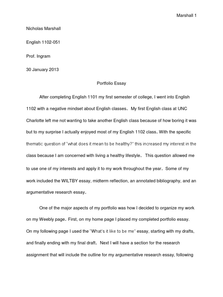 portfolio essay  inquiry  essays