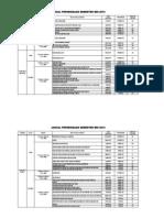 Jadual Exam Mei 2013