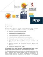 PV Industry Association Joint Letter