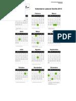Calendario Laboral Sevilla 2013 PDF