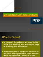 Valuation of Securities