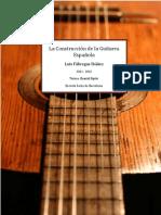 la construccion de la guitarra española