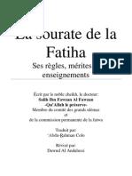 (sh.al Fawzan) La Sourate al Fatiha