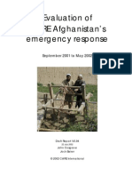 AFG - CARE Emergency Reponse Evaluation - Afghanistan Crises (May 2002) (354KB)