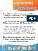Consultation form for Horfield Women's Swimming sessions