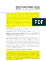 15001-23-31-000-2001-01226-02(1293-08) insubsistencia empleo libre nombamiento