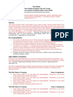 Long Term Unemployed Cv Template