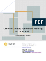 Research Report on Customer Centric Assortment Planning - India vs. Rest