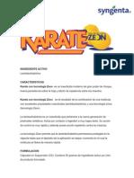 Karate Ficha