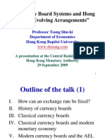 Currency Board Systems and Hong Kong's Evolving Arrangements