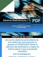 Géneros Radiofónicos y Televisivos