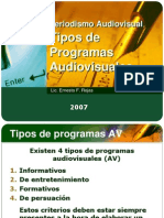 Tipos de Programas AV