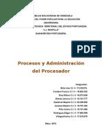 1er Grupo - Procesos y Administracion Del Procesador
