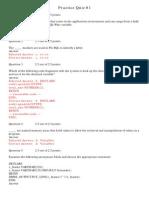 PL/SQL Practice Quizzes Exam 1