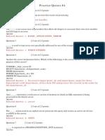 PL/SQL Practice Quizzes Exam 2