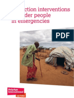 Protection interventions for older people in emergencies