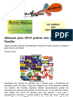 Alianças para 2014 podem não se repetir na Paraíba