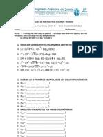 2do Taller de Matematicas Segundo Periodo