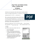 Investigating Finite and Infinite Series Using a ClassPad 300