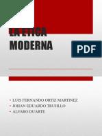 Teoría ética moderna