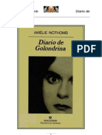 Nothomb Amelie Diario de Una Golondrina