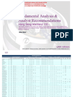 Fundamental Equity Analysis & Recommandations - The Hang Seng Mainland 100 - 100 Largest Companies Which Derive the Majority of Their Sales Revenue From Mainland China