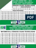 I SIMULADO FBE ENEM 2013 - GABARITO - 2-¦ DIA PROVA BRANCA.pdf