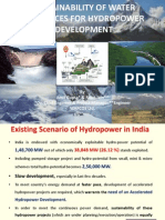 Sustainability of Water Resources for Hydropower Development