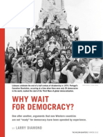Why Wait for Democracy? - Wilson Quarterly