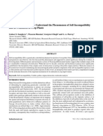 Self Incompatibility 2012 Inroads