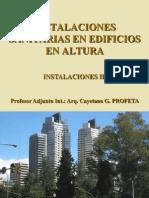 c.2.- Instalaciones Sanitarias en Edificios en Altura (Fc)