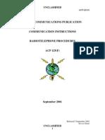 ACP 125F Communication Instructions, Radiotelephone Procedure