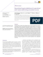 Mycorrhizal fungal establishment in agricultural