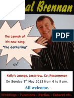 """Launch Poster for Pascal Brennan's Song """"The Gathering""""."""