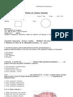 prueba ciclo  menstrual7°