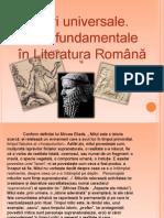 Mituri universale. Miturile fundamentale ale Literaturii Române