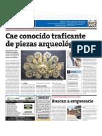 13-04-14 Cae conocido traficante de piezas arqueológicas. Moche, Chimú