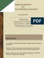 Reactive Powder Concrete presentation