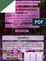 EJERCICIO-COMPARACIÓN DE MEDIAS